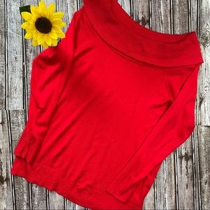 Torrid red cowl neck sweater